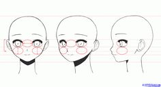 Manga Drawings Step by Step   how to draw anime girl faces step 2