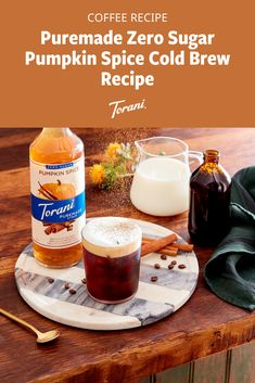 Did someone say zero sugar pumpkin spice cold brew recipe? This pumpkin spice cold brew recipe is easy to make at home and uses Torani syrups. Grab our full pumpkin spice recipe here! Pumpkin Drinks, Pumpkin Smoothie, Pumpkin Dessert, Pumpkin Recipes, Sugar Free Pumpkin Pie, Pumpkin Spice Syrup, Fall Dessert Recipes, Fall Recipes, Coffee Drink Recipes