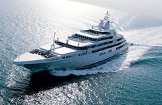 Dubai - 162 meters - by Platinum Yachts - Furthermore, it can also host a helicopter of up to 9.5 tons along with two 10-meter long tenders. Its displacement goes as high as 9,150 tons, not a problem for the Dubai in reaching a top speed of 26 knots. The 8,500 miles range at 25 knot cruising speeds, thanks to its four MTU diesel engines, are the cherries on the cake for this magnificent vessel.