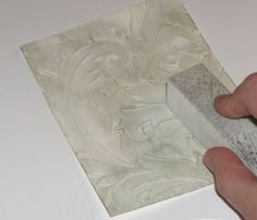 """Mel Stampz: """"Gesso-Swiping Dry Embossing"""" Technique & more Gesso"""