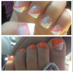 Cute matching nails and toes