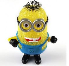 Drift off into sweet dreams with this adorable bedtime pal night light. Minion LED Lamps have an easy turn on light that gives off a soft, comforting glow as you drift off to sleep. Colour changing lamp with Low Energy Consumption perfect for your bed-side table. For you guys who need a friend in the dark, the Minion LED Lamp is a perfect companion. Can be used as a decorative showpiece and will make an ideal gift for children.