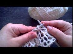"""Dans cette vidéo je vous montre comment tricoter le point de """"Bourse"""" il est facile à réaliser et convient parfaitement aux débutantes, n'hésitez pas à me di..."""