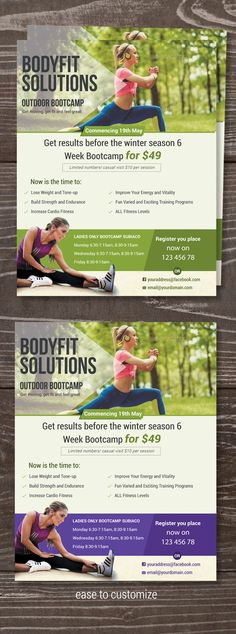 Starting a successful fitness ladies boot camp begins with eye catchy boot camp flyer. photos are not include