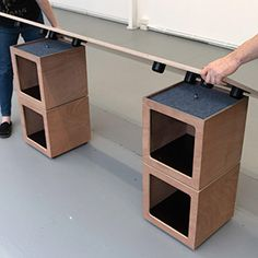 Setting up DO BOX as a workspace is easy! Modular Furniture, A Table, Desk, Storage, Box, Creative, Home Decor, Purse Storage, Sectional Furniture