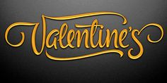 Valentines Font by the Fontmaker , via Behance
