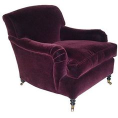 velvet chair -- gorgeous and comfy!
