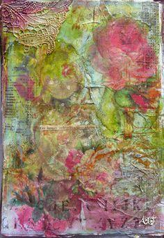page de mon art journal -- anne bulles dorees