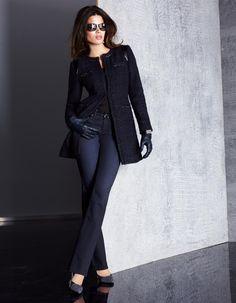 Gehrock in der Farbe nachtblau / schwarz - indigo - mehrfarbig, schwarz, blau - im Madeleine Mode Onlineshop