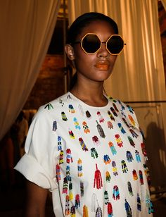 If you're lazing around today and need some candy delivered through the eyes check out these beautiful Rosie Assoulin Spring 2017 photos.