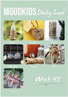 Make food for birds- Moodkids Diy For Kids, Crafts For Kids, Diy Crafts, Modern Birdhouses, Diy Bird Feeder, Diy Presents, Nesting Boxes, Creative Food, Preschool Crafts