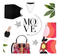 """Move"" by pattykake ❤ liked on Polyvore featuring Miu Miu, Gucci and Boohoo"