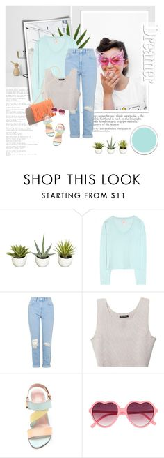 """Dreamer"" by aane1aa ❤ liked on Polyvore featuring Nearly Natural, Jardin des Orangers, Topshop, Baja East, Stuart Weitzman and Hard Candy"