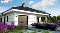 Z443 to wyjątkowy dom z kategorii projekty domów jednorodzinnych Dream Home Design, Home Design Plans, Home Interior Design, House Design, Beautiful House Plans, Beautiful Homes, Two Bedroom House, Architectural House Plans, Shopping Hacks