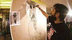 Stamatis Laskos Street Artists, Artist At Work