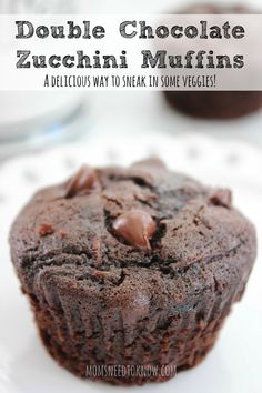 These double chocolate zucchini muffins are a great way to sneak in some extra vegetables as well as use the zucchini in your garden. Moist and delicious!