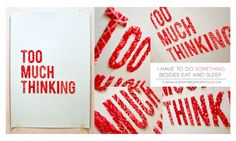embroidery on paper : too much thinking
