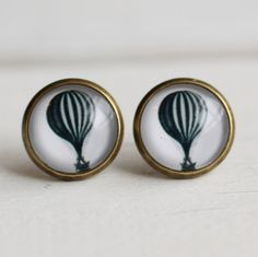 Hot Air Balloon Earrings ... Vintage by SilkPurseSowsEar on Etsy, £8.00