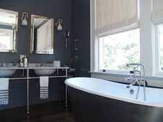 Navy Bathroom, Contemporary, bathroom, Soorikian Architecture