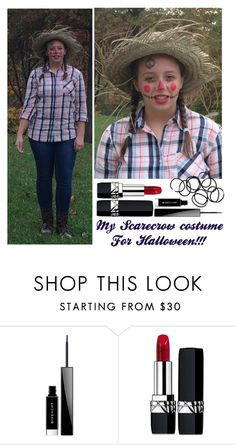 """""""My Scarecrow costume for Halloween"""" by malrocks2003 ❤ liked on Polyvore featuring Givenchy, Christian Dior and Monki"""
