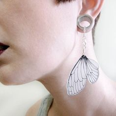 Hey, I found this really awesome Etsy listing at https://www.etsy.com/listing/176395250/cicada-wing-dangle-earrings-for