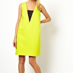 Asos Yellow Shift Dress NWOT. Timeless classic and adds a wondeful pop of color for the holiday season. Size 4 and this item is up for price negotiations. Available for immediate shipment! Dresses