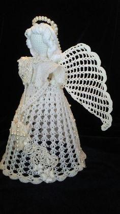 josettacay - Her Crochet Crochet Angel Pattern, Crochet Angels, Crochet Square Patterns, Christmas Crochet Patterns, Christmas Knitting, Thread Crochet, Crochet Crafts, Free Crochet, Handmade Christmas