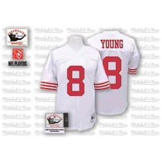Nike Mitchell and Ness San Francisco 49ers http://#8 Steve Young White Authentic NFL Jersey $109.99