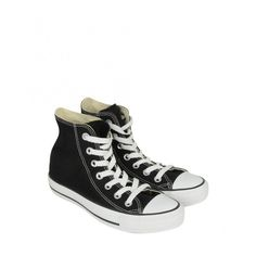 Converse Womens Black Classic High Top Sneaker (96 CAD) ❤ liked on Polyvore featuring shoes, sneakers, converse, sapatos, converse shoes, black high top shoes, canvas high top sneakers, high top shoes and lace up high top sneakers