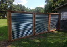 Pallet Fence, Diy Fence, Fence Landscaping, Backyard Fences, Fence Gate, Fence Ideas, Fencing, Gabion Fence, Backyard Ideas