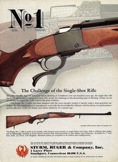 News 1982 Ruger No. 1 Single-Shot Rifle Ad copyright '80 appeared in '82 1982 Ruger No. 1 Single-Shot Rifle Ad copyright '80 appeared in '82 Price : 9.99 Ends on : 2016-03-02 12:05:54 View on eBay ... http://showbizlikes.com/1982-ruger-no-1-single-shot-rifle-ad-copyright-80-appeared-in-82/
