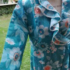 70s Dressing gown vestaglia anni passati woman wedding LUSSO SPOSA
