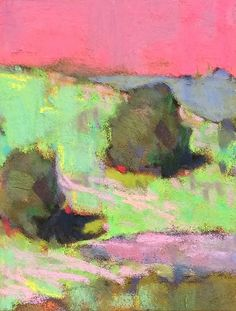 GREEN GRASS KNOLL by Casey Klahn - Pastel
