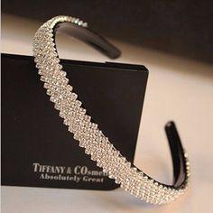 15mm width Fashion women luxurious crystal headband rhinestone hairband bridal hair accessories1