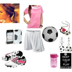 soccer girl by cutie-xoxo, via Polyvore