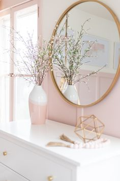 A beautiful Pink and Gold Girls Bedroom with a modern yet delicate touch, fun se. A beautiful Pink and Gold Girls Bedroom with a modern yet delicate touch, fun seating, and functional desk space perfect for all ages! Gold Bedroom Decor, Modern Bedroom, Pink Gold Bedroom, Bedroom Furniture, Contemporary Bedroom, Ikea Bedroom, Bedroom Bed, Gold Home Decor, Cozy Bedroom