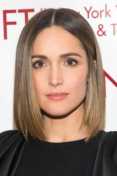 Give your short bob a sleek look with a pin straight hairstyle.