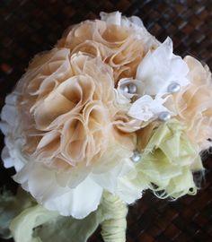 DIY wedding flower tutorials from Jewel Box Ballerina + GIVEAWAY! **Ballerina tulle/chiffon bouquet**