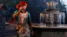 Triss Merigold – Alternaitve look. I almost picked her to mance after seeing this outfit. Alas yenn has my heart