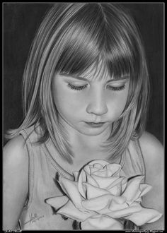 Pencil Drawing Dos Flores by Isabel Morelli