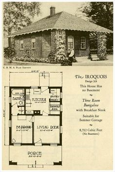 1927 Brick Houses: The Iroquois - great for when there are only 2! :D