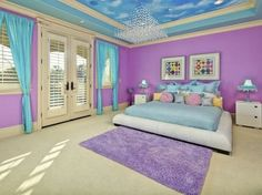 Purple and blue bedroom ideas for teenage girls bedroom paint ideas with pink single bed soft . purple and blue bedroom Purple Bedrooms, Blue Bedroom, Girls Bedroom, Master Bedroom, Master Bathrooms, Teenage Girl Bedrooms, Little Girl Rooms, Teen Rooms, Teenage Room