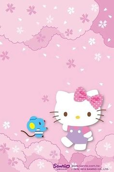 Hello Kitty Backgrounds, Hello Kitty Wallpaper, Pink Hello Kitty, Sanrio Hello Kitty, Sanrio Characters, Cute Characters, Hello Kitty Pictures, Hello Kitty Collection, Little Twin Stars