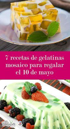 7 recetas de gelatinas mosaico para regalar el 10 de mayo