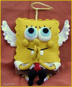 Sponge bob crochet pattern for free, available from Ravelry