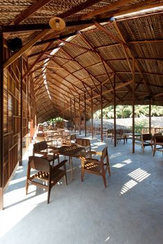 Salvaged ring is a coffee shop located along the side of a highway in the countryside of Nha Trang, Vietnam.