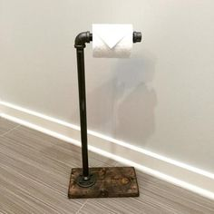Rustic/industrial Toilet Paper Stand/Holder