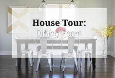House tour: dining room. Fall 2014. DIY Wall art.