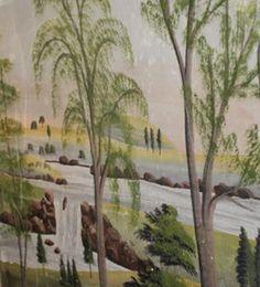 C1840 Jonathan D. Poor mural * Waterfall.