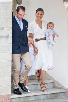 Crown Princess Victoria of Sweden Prince Daniel of Sweden with Prince Oscar of Sweden and Princess Estelle of Sweden at Crown Princess Victoria of...